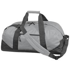 600 D gyöngyvászon sporttáska, szürke (Extra minőségű gyöngyvászon sporttáska, oldal zsebbel, tágas)
