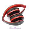 Stereo Blutooth kihangosító Wireless Headphones fekete-piros