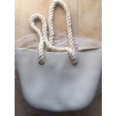 MyBag női szilikon táska bézs/ halvány szürke színű (Natur)