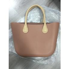 MyBag női szilikon táska barna színű, bézs fül