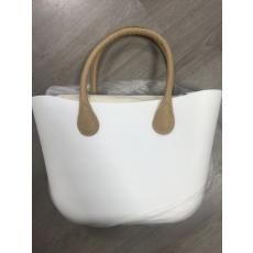 MyBag női szilikon táska fehér színű, bézs  fül