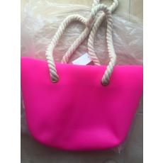 MyBag női szilikon táska Pink színű (Natur kötél fülekkel)