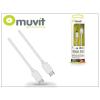 Muvit USB Type-C - USB Type-C adat- és töltőkábel 70 cm-es vezetékkel - Muvit USB Cable Type-C 3.1 - white