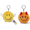 NICI Smiley Plüss kulcstartó forgatható sárga Angyal/narancs Ördög 6cm