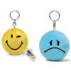 NICI Smiley Plüss kulcstartó forgatható sárga Boldog/kék Szomorú 6cm