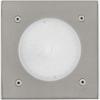 EGLO 93481 kültéri LED talajba építhető 1x2,5W 190lm szögletes 10,2*10,2cm nemesacél, átlátszó üveg IP65 Lamedo