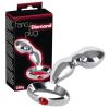 Fancy Diamond - fém análhorog (ezüst-piros)