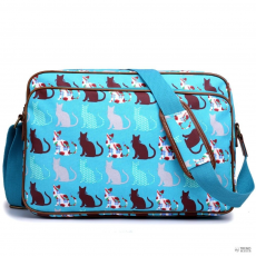 Miss Lulu London LG1624CT - Miss Lulumattte Oilcloth oldal táska táska Cat Teal