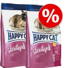Happy Cat Supreme Happy Cat dupla csomag - Indoor Adult lazac (2 x 4 kg)