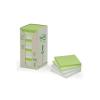 3M POSTIT Öntapadó jegyzettömb, 76x76 mm, 100 lap, környezetbarát, 3M POSTIT, szivárvány színek (16db)