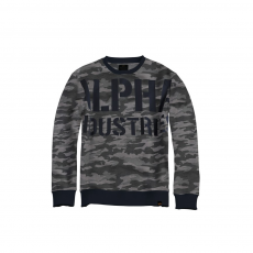 Alpha Industries All Over Sweater - black camo