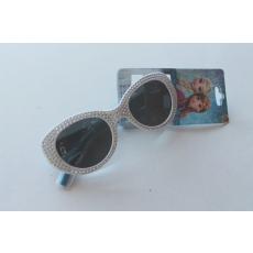 Jégvarázs (Frozen) napszemüveg - fehér strasszköves