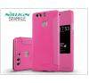 Huawei P9 oldalra nyíló flipes tok - Nillkin Sparkle - pink tok és táska