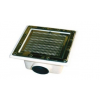 Fenékürítő fóliás, ÜPE beépítő, rozsdamentes acélrács355x355 mm D110
