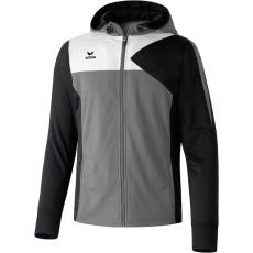 Erima Premium One Training Jacket with Hood szürke/fekete/fehér zippes felső