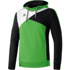 Erima Premium One Hoody zöld/fekete/fehér pulóver