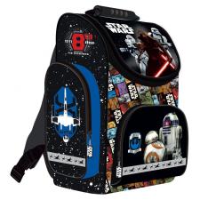 Star Wars VII. ergonómikus hátizsák, iskolatáska 36x28x17cm, kék iskolatáska