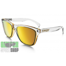 OAKLEY Frogskins Crystal Collection Polished Clear 24k Iridium