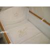 Babaágynemű garnitúra 4 részes - Hímzett arany csillagfüzéres maci