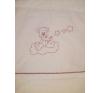 Baba hálózsák - Hímzett bordó csillagfüzéres maci hálózsák, pizsama