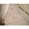 Babaágynemű garnitúra 2 részes - Bordó apró csillagos maci