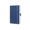 Sigel GmbH Sigel Jolie notesz, vonalas 9,5x15cm, gumipánttal, indigo kék