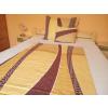 100% pamut ágynemű huzat 3 részes, 140x200 cm paplanhuzattal, narancs - barna mintás