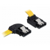 DELOCK Cable SATA 6 Gb/s left/up metal 50cm (82837)