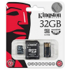 Kingston MicroSDHC 32GB (Class 4) + adapter (MBLY4G2/32GB) MBLY4G2/32GB