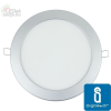 MINI LED Panel ezüst kör, 18W, hideg fehér (furat:205mm)