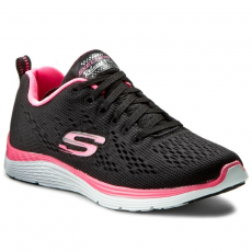 Skechers Félcipő SKECHERS - Backstage Pass 12221/BKHP Black/Hot Pink