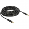 DELOCK Jack stereo 3,5mm (4pin) M/M audio kábel 10m fekete