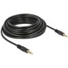 DELOCK Jack stereo 3,5mm (4pin) M/M audio kábel 10m fekete