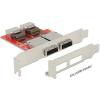 DELOCK Adapter 2 x Mini SAS SFF-8087 female > 2 x Mini SAS SFF-8088 female Low Profile Form Factor