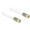 DELOCK F M/M antenna kábel 2m RG-6/U premium fehér