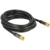 DELOCK F F/F antenna kábel 3m RG-6/U fekete