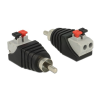 DELOCK RCA -> Terminal block 2pin M/F adapter fekete