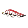 DELOCK SAS SFF 8484 4 Molex Power 4pin -> 4 SAS SFF 8482 F/F adatkábel 0.5m SFF 8484/SFF 8482