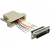 DELOCK Sub-D 25pin -> RJ45 M/F adapter assembly kit