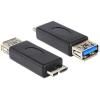 DELOCK USB 3.0 A USB 3.0 micro B F/M adapter