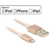 DELOCK USB adat- és töltőkábel iPhone™, iPad™ és iPod™ készülékhez rozéarany 1 m
