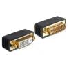 DELOCK DVI-I M/F adapter fekete