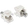 DELOCK RCA F/F Keystone modul fehér