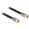 DELOCK F M/M antenna kábel RG-6/U Premium fekete