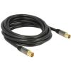 DELOCK IEC M/F antenna kábel 5m RG-6/U fekete