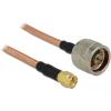 DELOCK N -> SMA F/F antenna kábel 0.4m RG-142 réz