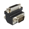 DELOCK DVI-I -> VGA F/M adapter 270° fekete