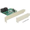 DELOCK PCI Express Kártya > Hibrid 4 x belső SATA 6 Gb/s RAID - alacsony profilú formatényező