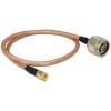 DELOCK N -> SMA F/F antenna kábel 1m RG-142 réz