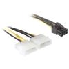 DELOCK 2db Molex Power 4pin -> Power 6pin M/F tápkábel 0.15m